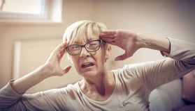 Problem with migraine. royalty free stock images