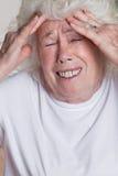 Senior Woman having Headache Royalty Free Stock Photo