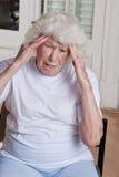 Senior Woman having Headache Stock Image