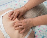 Senior woman having a massage Stock Image