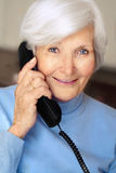 senior woman having a phone call Royalty Free Stock Photo