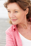 Senior woman head and shoulders Royalty Free Stock Image