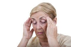 Senior woman with headache Stock Photography