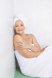 Senior woman in health resort Royalty Free Stock Photography