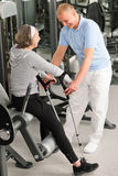 Senior woman with help of physiotherapist Stock Photography
