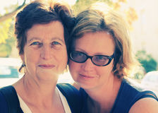 Senior woman and her adult daughter Royalty Free Stock Images