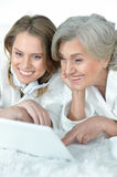 Senior woman with her adult daughter Stock Photography