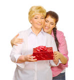 Senior woman with her daughter Royalty Free Stock Photos
