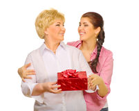 Senior woman and her daughter Royalty Free Stock Photo