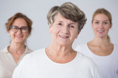 Senior woman with her family Stock Photography