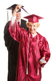 Senior Woman at Her Graduation Ceremony Stock Image