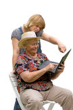 Senior woman and her granddaughter Stock Image