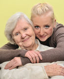 Senior woman with her granddaughter. Royalty Free Stock Photo
