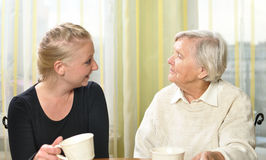 Senior woman with her granddaughter . Stock Images