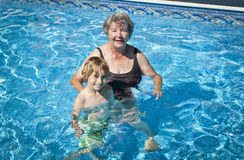 Senior Woman With His Grand Son Royalty Free Stock Images