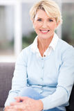 Senior woman home Stock Photography