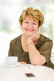 Senior woman home Stock Image