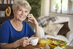 Senior woman at home Royalty Free Stock Photo