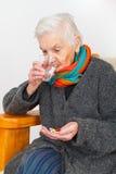 Senior woman at home Stock Image