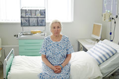 Senior woman in hospital Royalty Free Stock Photo