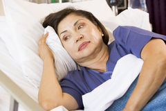 Senior Woman In Hospital Bed Royalty Free Stock Photography