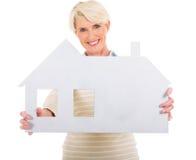 Senior woman house Stock Photography