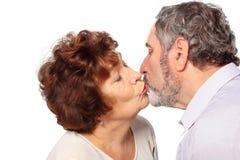 Senior woman hug man, couple Stock Photo