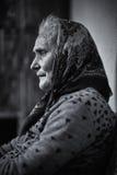Senior woman indoor Stock Photo