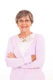 Senior woman isolated Stock Image