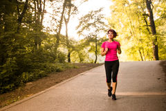 Senior woman jogging Royalty Free Stock Images