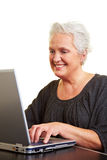 Senior woman with laptop Stock Photo