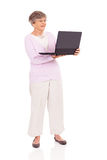 Senior woman laptop Royalty Free Stock Photo