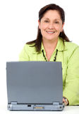 Senior woman on a laptop Royalty Free Stock Photography