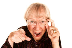 Senior woman laughing Stock Images