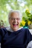 Senior Woman Laughing Stock Images