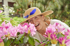 Senior woman laughing Royalty Free Stock Photography