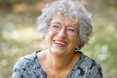 Senior woman laughing Royalty Free Stock Photos