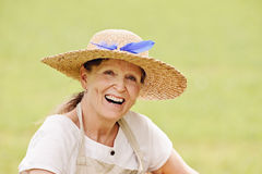 Senior woman laughing Stock Photos