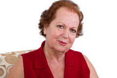 Senior Woman Looking at the Camera Genuinely Royalty Free Stock Image