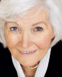 Senior woman looking up Royalty Free Stock Photo