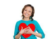 Senior woman in love Stock Images