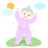 Senior woman love to exercise  Royalty Free Stock Image