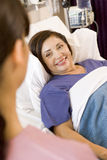 Senior Woman Lying In Hospital Bed Royalty Free Stock Images