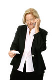 Senior woman making call Stock Photos