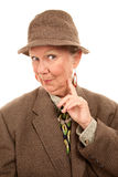 Senior woman in male clothing Royalty Free Stock Images
