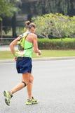Senior woman marathon runner Royalty Free Stock Image