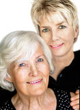 Senior woman  and mature daughter 4 Royalty Free Stock Photos