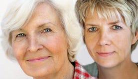 Senior woman  and mature daughter 3 Stock Photos