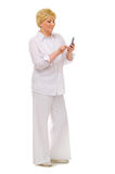 Senior woman with mobile phone Royalty Free Stock Photos