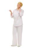 Senior woman with mobile phone Royalty Free Stock Photos